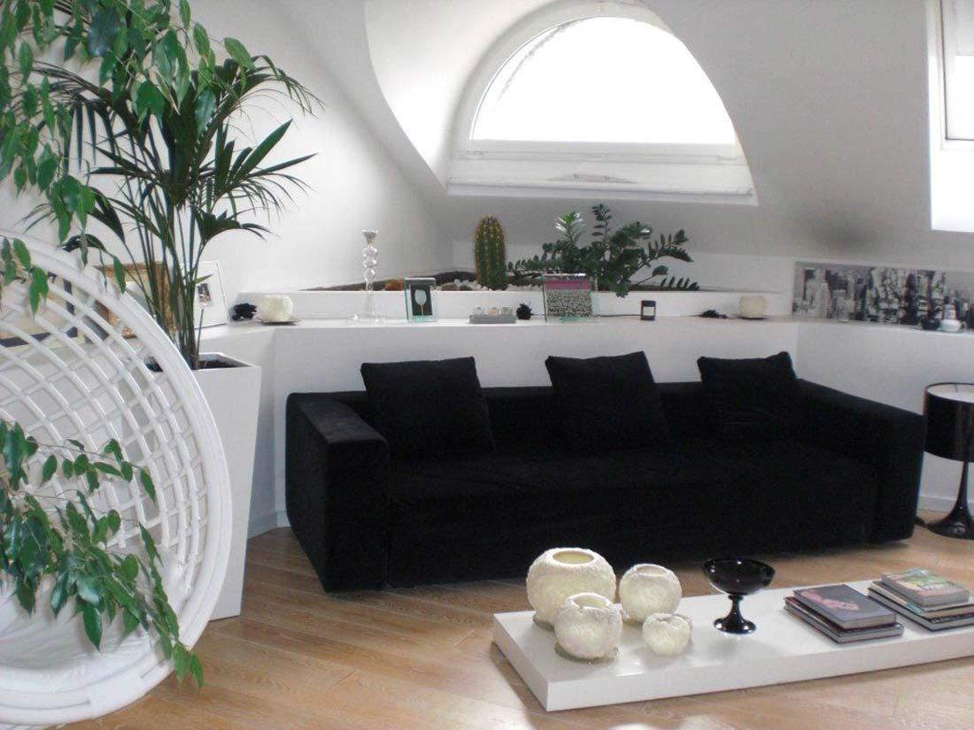 Mansarda Monza interior design 2 Progettazione e