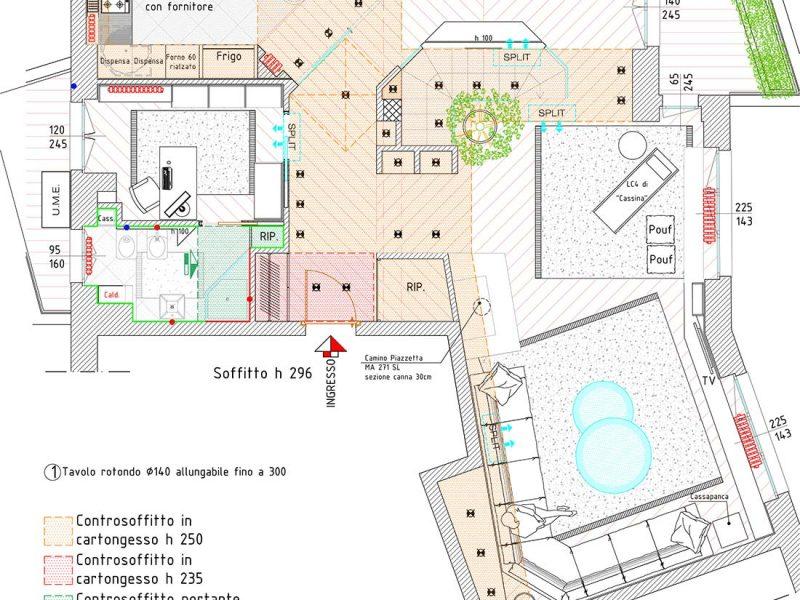 Mappa appartamento due piani monza