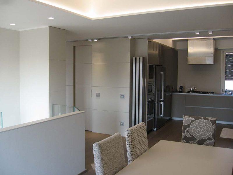 Progettazione design arredamento due piani milano
