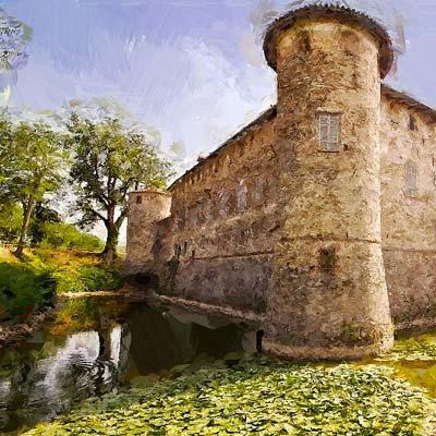 casali di campagna e castelli