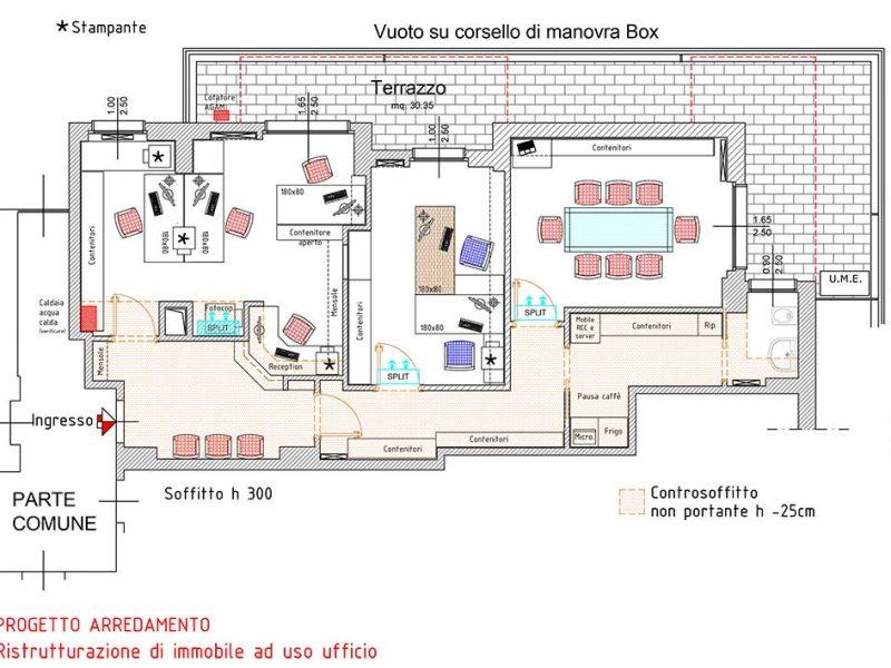 ufficio arredamento design monza e brianza pianta