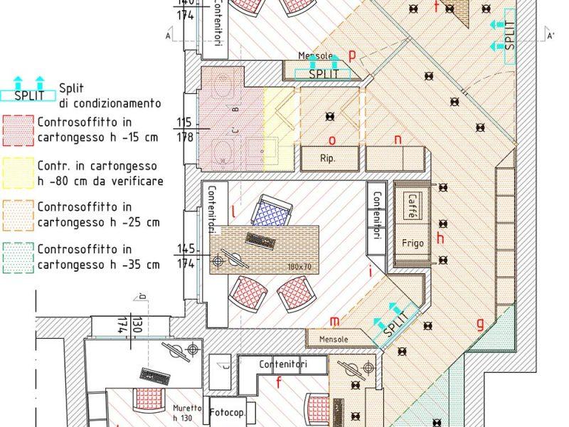 ufficio monza e brianza architettura design interni Pianta ufficio Monza